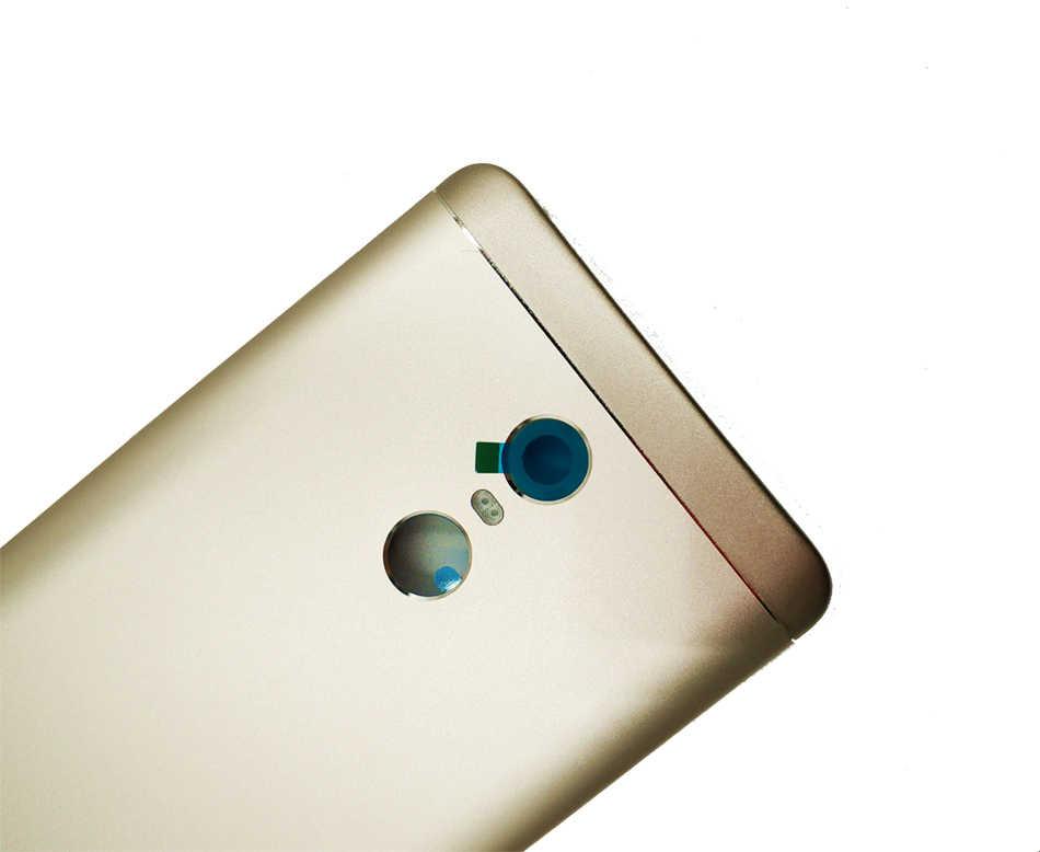 Asli untuk Xiaomi Redmi Note 4 Global Back Cover Belakang Pintu Housing Card Tray Pemegang Perbaikan Spare Parts hitam