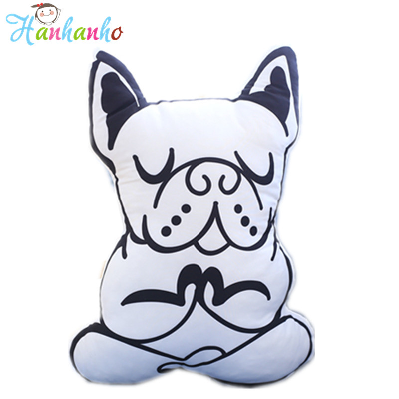 Yoga Dog Cushion White&Black Creative Cotton Sofa Pillow Pink Rabbit Home Decor Toy Kids Doll Gift laser light device reduce blood pressure wrist watch wrist type laser