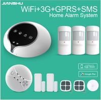 Newest 3G WIFI GPRS SMS Home Alarm System With Smoke Detector WIFI Security Alarm System Support