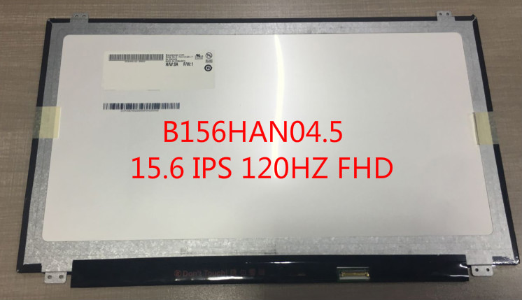 B156HAN04.5 15.6 3D LCD Screen B156HAN04 FHD edp 30pin 120HZ grassroot 15 6 inch b156htn05 1 led lcd screen for alienware 15 r3 1920x1080 fhd 120hz display 3d edp 30pin replacement screen