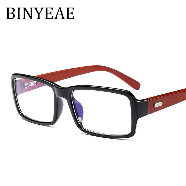 BINYEAE Glasses Vintage Wood Framed Glasses Male Famale Handmade ...