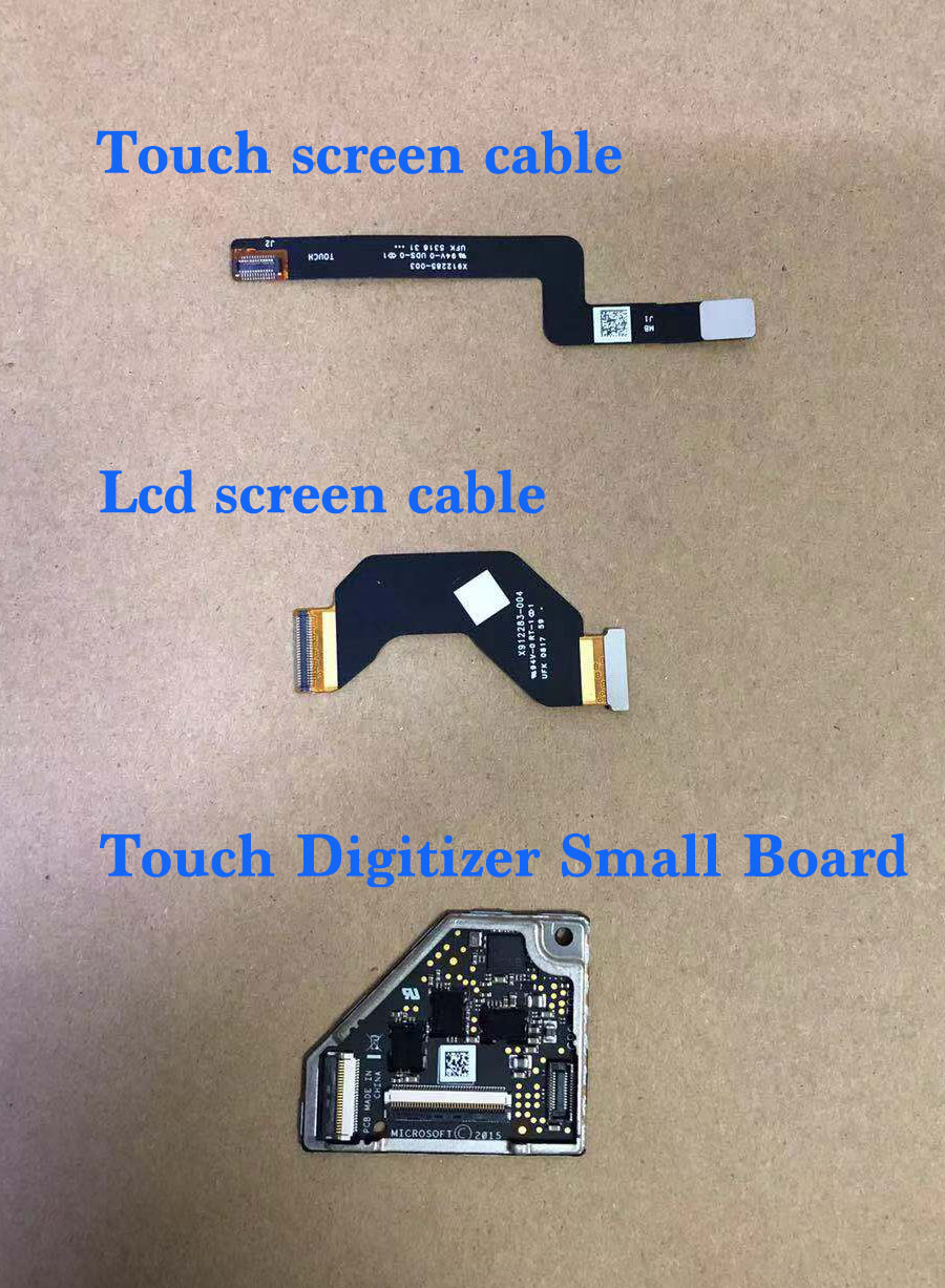Per Microsoft superficie libro touch screen lcd flex cable Digitizer Small Board X912283-004 X912285-003