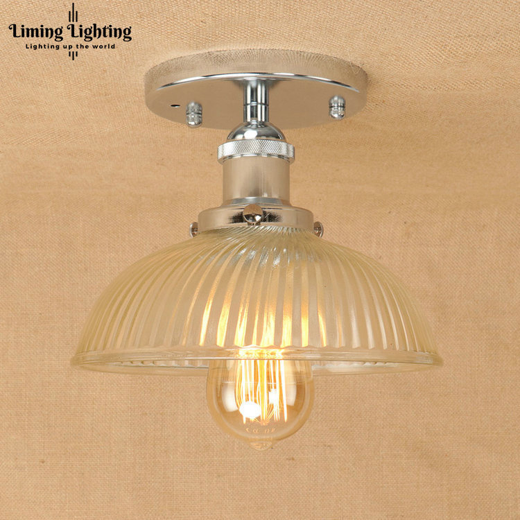 modern Loft Style Edison Industrial Ceiling Lamps Antique Iron Glass Vintage Ceiling Light Fixtures Indoor Lighting Luminaria