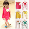 Summer Children's Clothing Girls Set Kids Clothes Sleeveless T Shirt + Pants Suit Flower Girls Clothing Sets Girls Fashion Suits