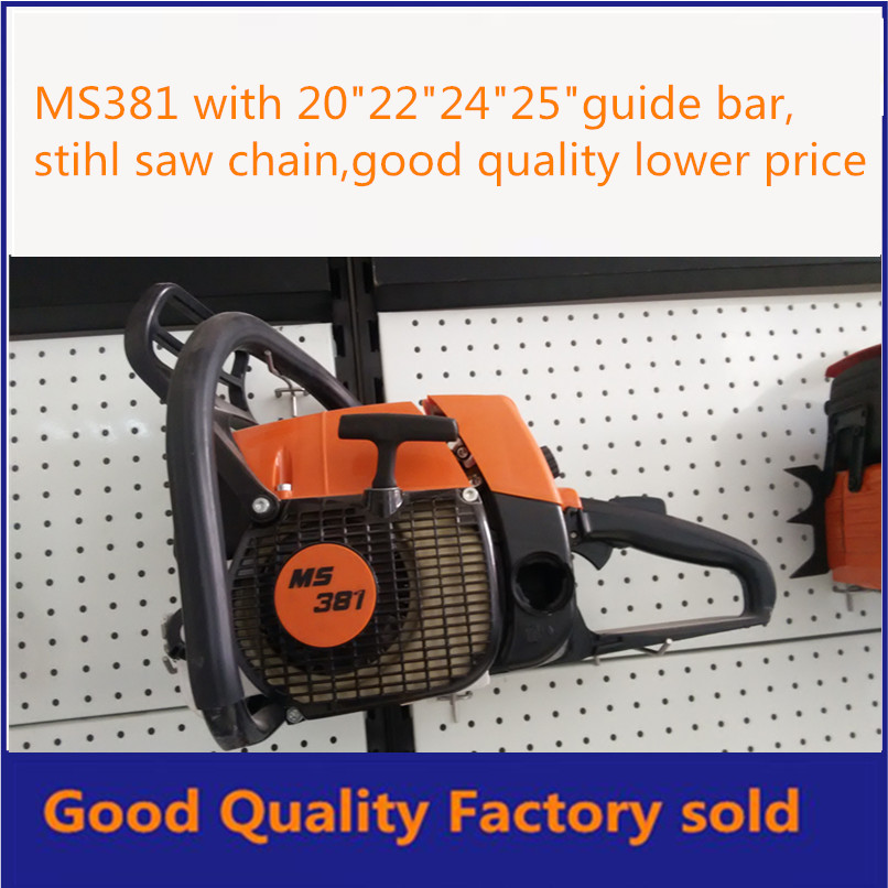 orange and white color MS381 72cc with 20 bar gasoline chainsaw good quality cheaper price brand