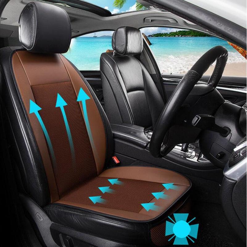2018 New car seat ventilation cushion 12V summer fan blower single cooling cushion multi-functional refrigerating cushion new original adda ab05012dx200300 12v 0 15a projector blower cooling fan