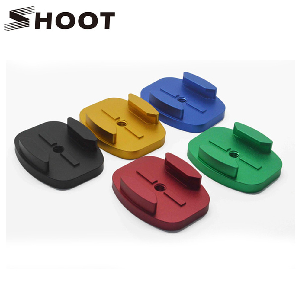Aluminum Alloy Curved Surface Mount Tripod Adapter For Gopro Hero 3+ 2 4 Session Xiaomi yi SJ4000 SJ 4000 SJ8000 Accessories