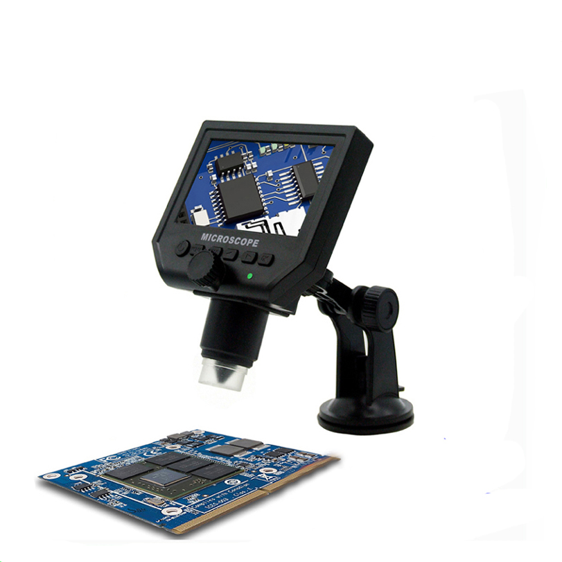 1-600x 3.6MP USB Digital Electronic Microscope Portable 8 LED VGA Microscope With 4.3 HD OLED Screen for pcb motherboard repair hd 2mp usb 1 600x continous focal digital microscope for circuit board