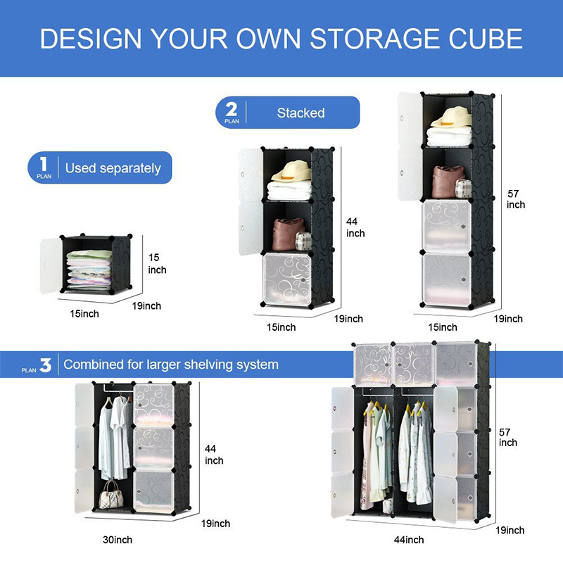 PRWMAN 16 Cube 2 Hooks DIY Magic Piece Of Resin Storage Cabinets Bedroom  Wardrobe Furniture Assembly Versatile Student Wardrobe On Aliexpress.com |  Alibaba ...