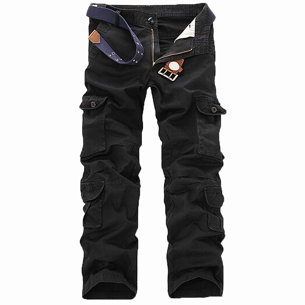 SAF-New Casual Men's Pants Military Army Camo Combat Work Trousers Black