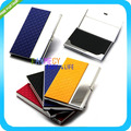 4Color Pocket Leather Stainless Steel Metal Business Name Credit plaid european american Case Card  Holder Cover id wallet