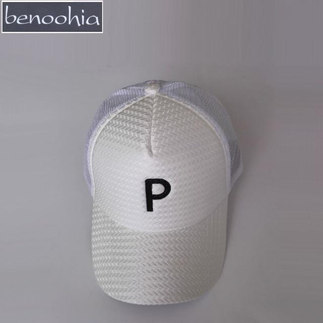 59fa3373944 BBS059 Benoohia brand P letter embroidery breathable mesh sport caps New men  and women snapback hat Baseball cap for beach