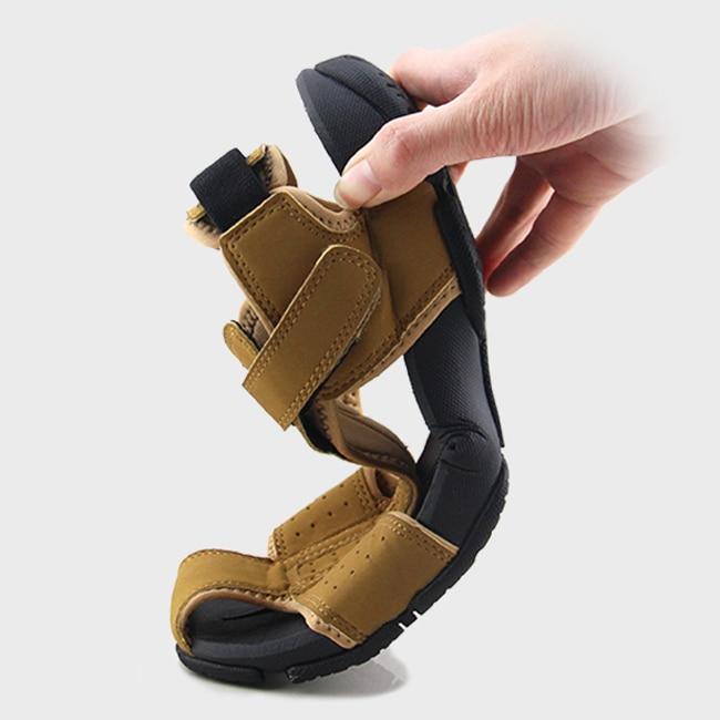 f12969577f76 MIUBU Summer Sandals Men Closed Toe Fashion Beach Men Sandals Flexional  Suede Leather Shoes Beach Shoes Big Size-in Men s Sandals from Shoes on ...