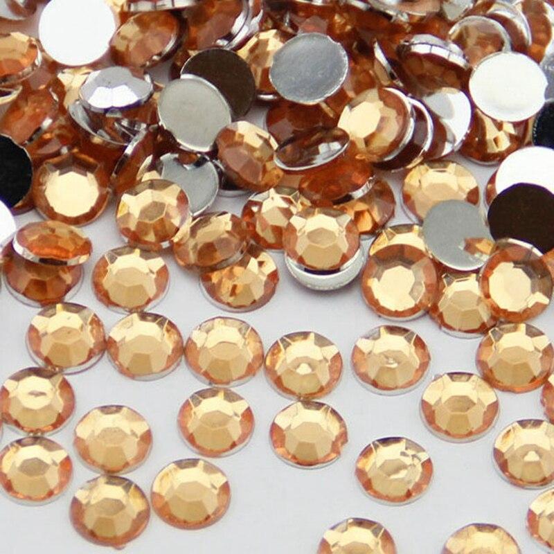 1000PCS ss30 6mm 3D Nail Art Gems Beads Nail Tools Decorations Glitter Rhinestones For Nail Jewelry Tips Crystal Yellow N09 10pcs triangle plastic rhinestones beads crystal nail art sorting trays accessory white nail art tool