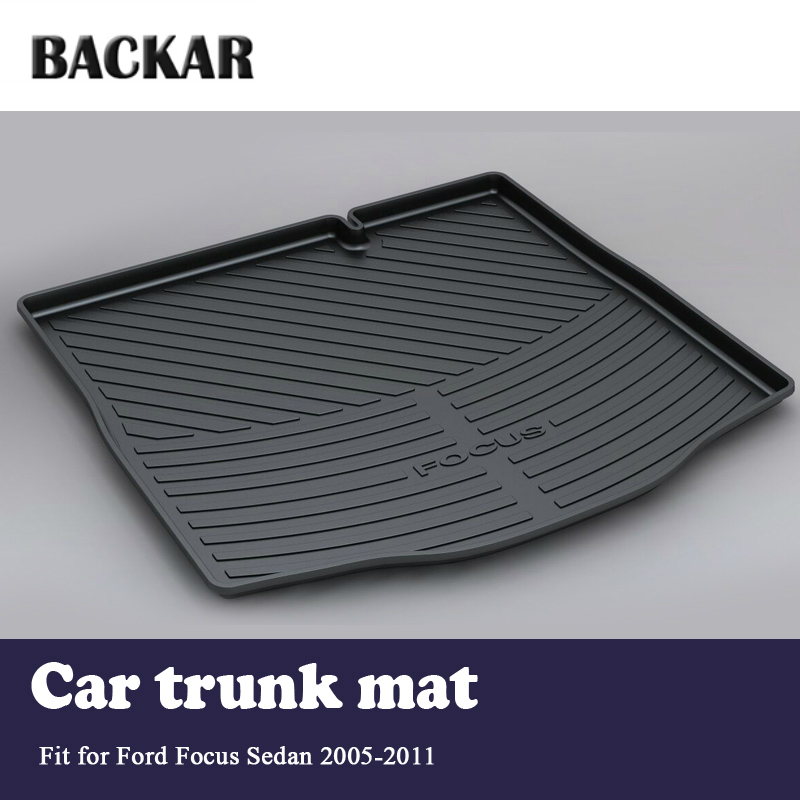 Backar Car Cargo Rear Trunk Mat Boot Liner Tray Anti-slip  For Ford Focus Sedan 2005 2006 2007 2008 2009 2010 2011 AccessoriesBackar Car Cargo Rear Trunk Mat Boot Liner Tray Anti-slip  For Ford Focus Sedan 2005 2006 2007 2008 2009 2010 2011 Accessories