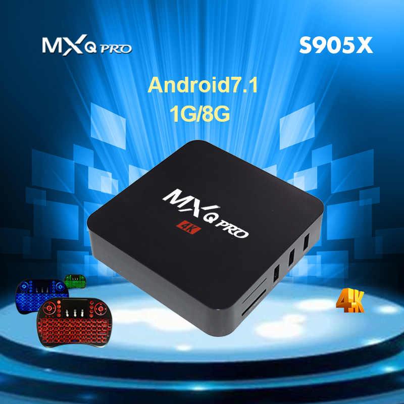 MXQ PRO Android 7 1 Amlogic S905X Quad Core 1G RAM 8G ROM iptv KD 4K 2 4G  WiFi Smart Tv Box Media Player Set top Box PK x96 mini