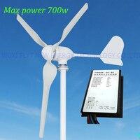 400 Wát 12 V 24 V Cối Xay Gió Máy Phát Điện công suất Tối Đa 700 wát thấp tốc độ gió khởi động máy phát điện + bộ điều khiển gió.