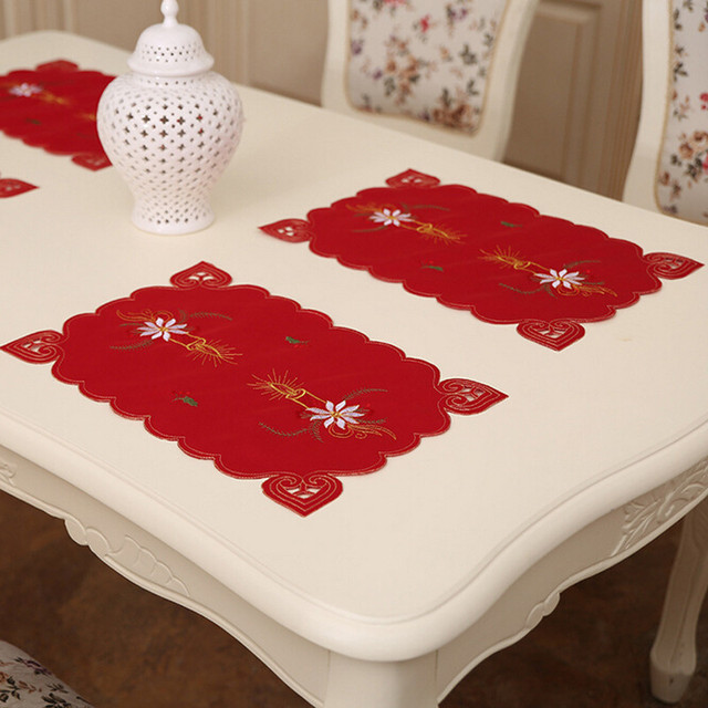 Christmas Tableware Mats Embroidered Santa Claus Christmas Decoration Tools Xmas Party Decor Tableware mats YL886424 & Christmas Tableware Mats Embroidered Santa Claus Christmas ...