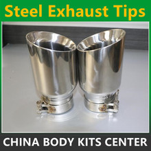 Newest Style stainless steel universal exhaust system end pipe car exhaust tip