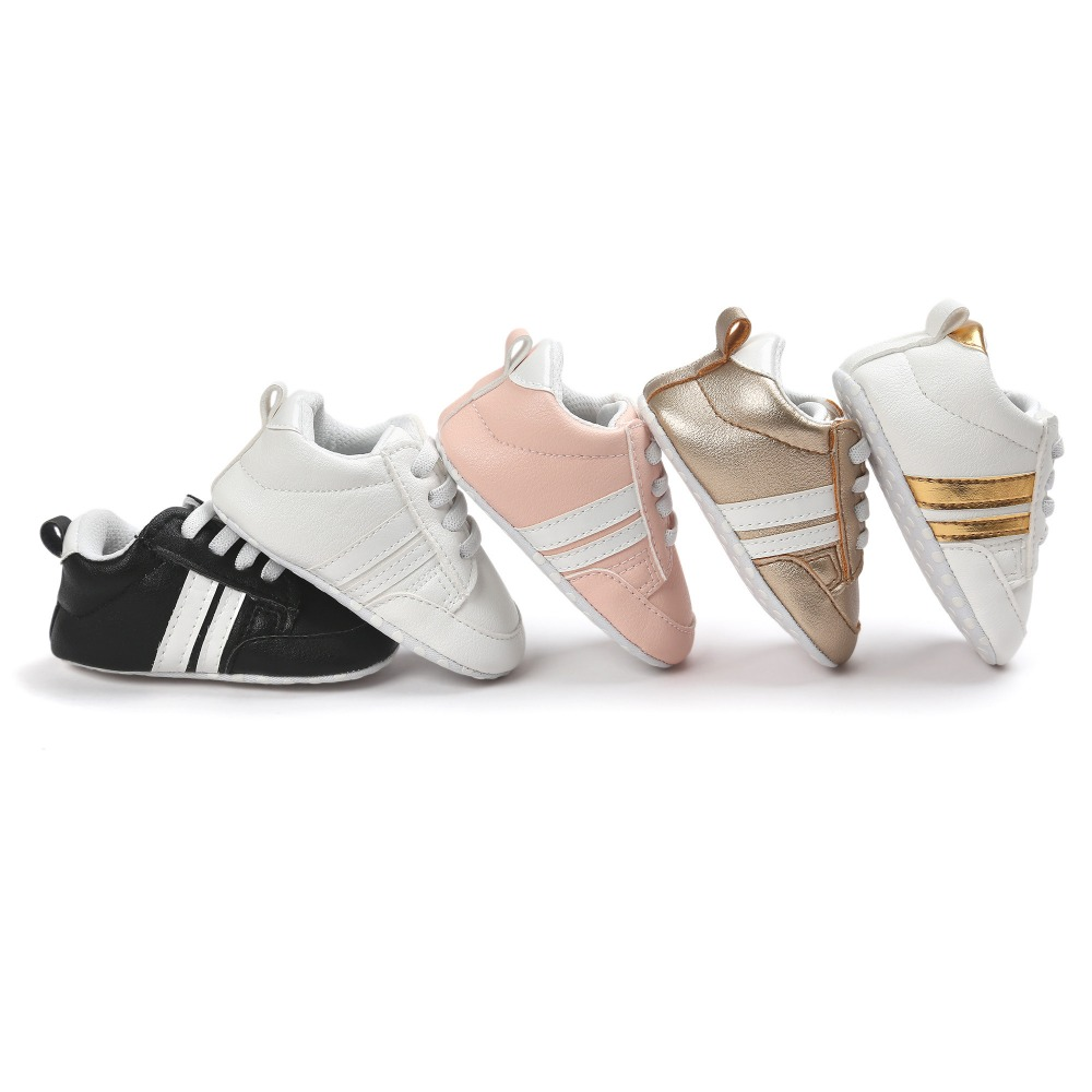 Romirus PU Leather Baby Sports Shoes Girls Boys First Walkers Soft Bottom Fashion Newborn Shoes Bebe CX27C