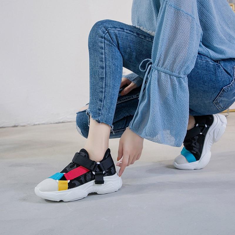 Respirant Jookrrix Mode Match Sneaker Tous Femelle Dame Femmes Chaussures Automne Fille Noir Plate Les forme gris Chaussure Occasionnels Marque De YTYvrx8