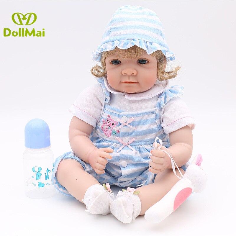 22 pouces 55cm Silicone Reborn poupées réaliste bébé garçons nouveau-né mode poupée cadeau de noël nouvel an cadeau Bebes reborn menino