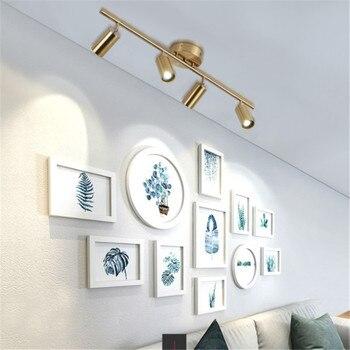 Новый потолочный светильник освещение гостиной угол регулируемые точечные светильники GU10 Точечные светильники Лампа для магазина Шоурум ...