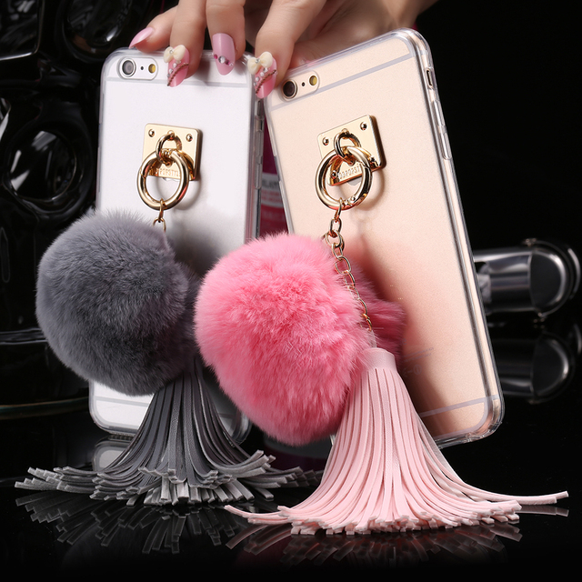 coque iphone 7 pompon