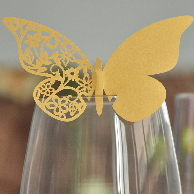 50ct Laser Cut Butterfly Place Card