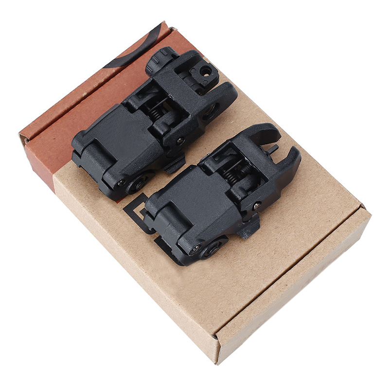 20MM Rail Gen Tactical Folding Front/Rear Flip Backup Sights Set  2Pcs20MM Rail Gen Tactical Folding Front/Rear Flip Backup Sights Set  2Pcs
