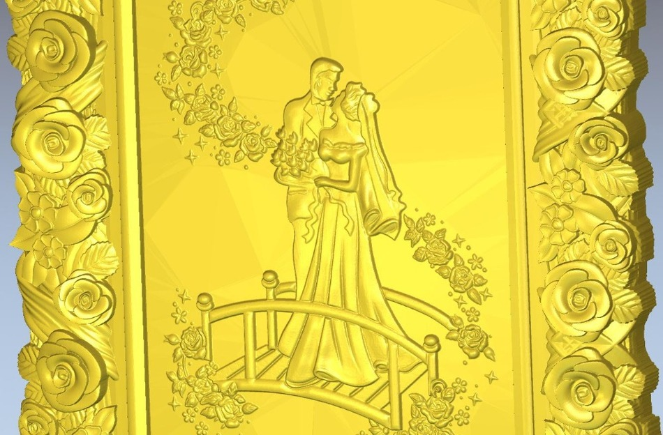 For  Cnc In STL  File Format 3d Panno_newlyweds Model Relief