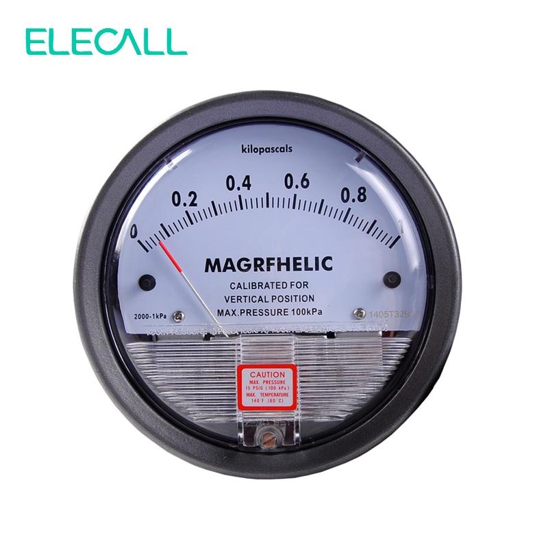 ФОТО ELECALL Micro Differential Pressure Gauge TE2000 0-1KPA High Precision 1/8