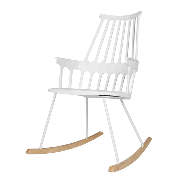 Classic Modern Design Plastic Solid Wooden Rocking Chair. Fashion Relax  Living Room Leisure Lounge Chair