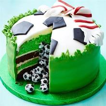 4YANG Football Plastic Geometric Fondant Cutter Cake Mold Decorating Tools Sugarcraft Bakeware