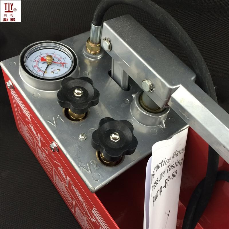 Бесплатная доставка 12l 50 кг ручной Мощность гидравлических трубопроводов Давление Тесты водяной насос трубы утечки Тесты er 5mpa гидравлическ