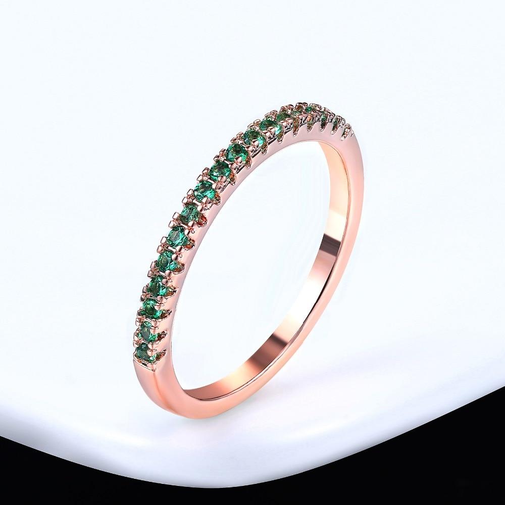 ZHOUYANG обручальное кольцо для женщин и мужчин лаконичное классическое многоцветное мини кубическое циркониевое розовое золото цвет подарок модное ювелирное изделие R251