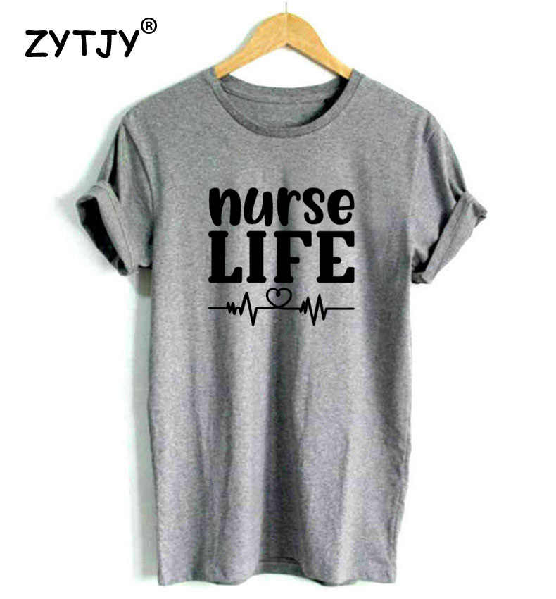 Nurse life heartbeat ผู้หญิง tshirt Cotton สบายๆตลกเสื้อ t เลดี้ Yong สาว Top Tee คุณภาพสูง Drop Ship S-471