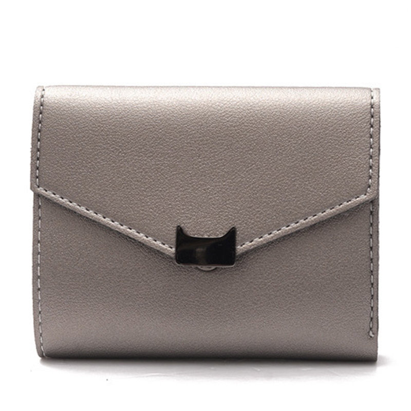 Women Wallet Female Leather Purse Short Clutch Card Holder Coin Purse High Quality Cash Photo Dollar Price Trifold Small Wallets stylish rhinestoned heart shape bracelet for women