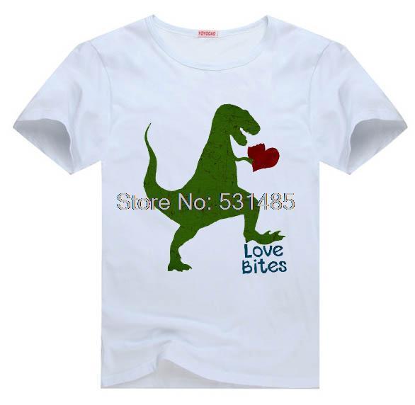Boys Valentine Tee Boys Loves Bites Funny T Shirt For Kid Boy Girl