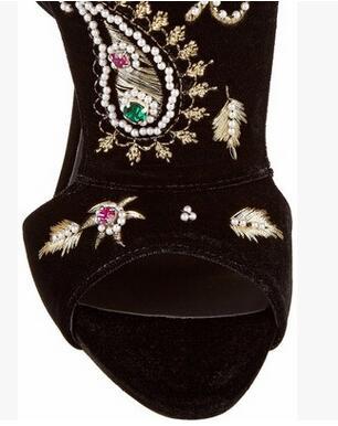 Negro De Tacones Super Alto Peep Sandalias Grandes Mujeres Las Cremallera Delgados Cristal Cubierta Zapatos Talón Moda Toe Pu Lonelinecc vqO5Zn
