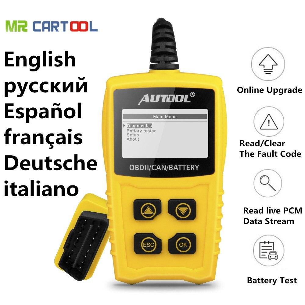 AUTOOL CS330 12 v Code Lecteur Batterie Scan Tester pour OBDII/EOBD/PEUT Automobile Scanner Voiture OBD2 De Diagnostic outil