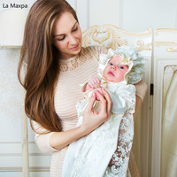 PA Кружево Ретро Кружево одежда с длинным рукавом Костюмы Детские 100 дней День рождения сфотографировать платье Индивидуальные новорожденн