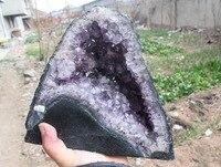 Природный аметист кристаллический Агат геодный образец