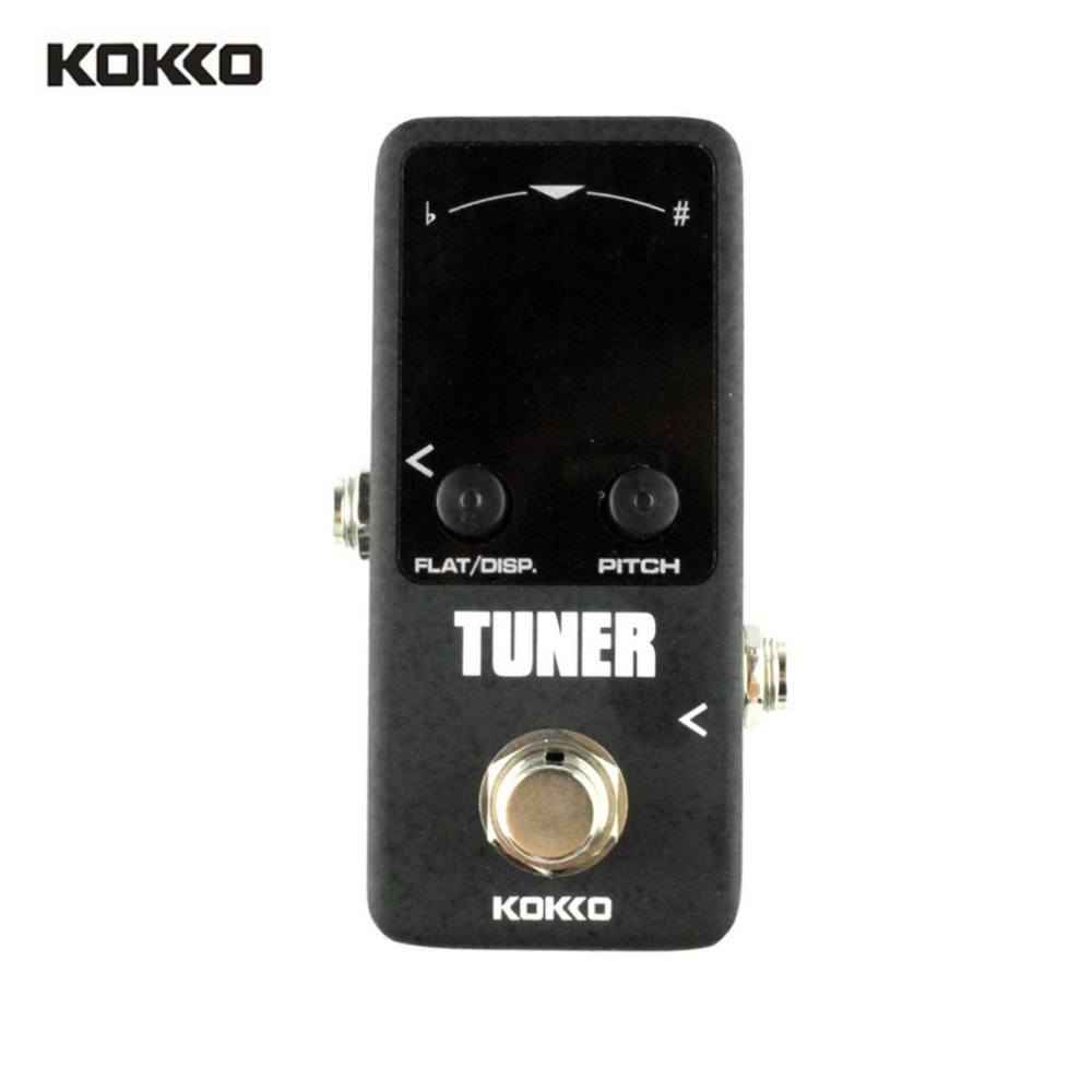 KOKKO FTN2 TUNER MINI Carbon Copy Analog Delay Mini Analog Delay Guitar Effect Pedal True Bypass Zinc-aluminium Alloy New mooer ensemble queen bass chorus effect pedal mini guitar effects true bypass with free connector and footswitch topper