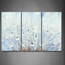 3 Panel Modern Plant Water Droplets Landscape Print Paintings Painting Canvas Wall Art Pictures for Home Decoration