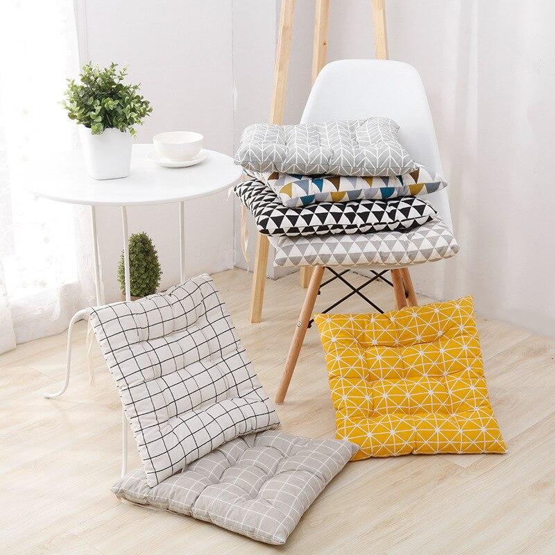Coxim de assento de algodão confortável escritório barra cadeira de volta assento almofadas sofá travesseiro nádegas cadeira almofada de escritório em casa decoração