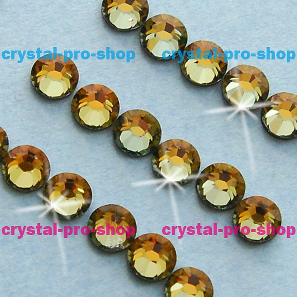 Swarovski Elements Tabac ( TAB ) Hotfix (ss6 - ss20) (2mm - 5mm) Iron On Crystal Glass Craft Beads Flatback Rhinestones
