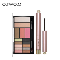 O TWO O Eye Makeup Eye Shadow 12 Color Flashing Matte Eye Shadow Waterproof Moisturizing Lasting