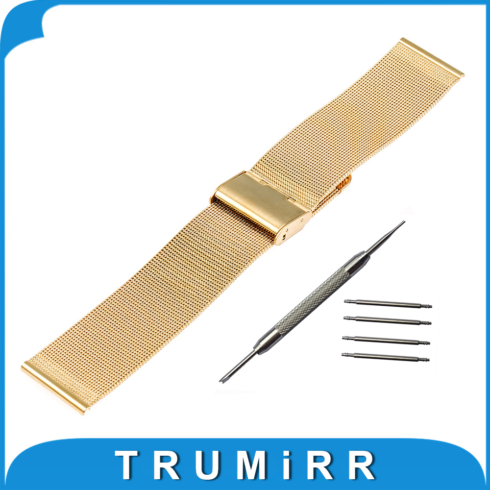 Milanese Watch Band 16mm 18mm 20mm 22mm + Tool for Timex Weekender Classic Men Women Stainless Steel Strap Wrist Belt Bracelet 18 mm 20 mm 22 mm stainless steel watch band with adjust tool free shipping