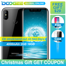 Original DOOGEE X70 Big batter 4000mAh Smartphone MTK6580A 2GB 16GB Android 8.1 5.5 Inch 19:9 Mobile Phone(China)